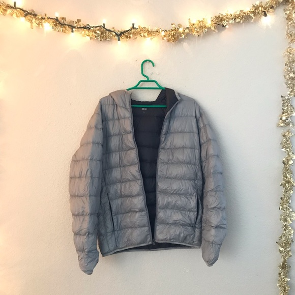 Uniqlo Jackets & Blazers - Uniqlo Gray Light Puffer Jacket Hooded